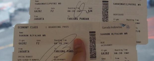 tiket pesawat ke belitung